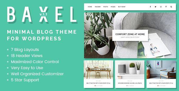 AD: Baxel - Minimal Blog Theme for WordPress - Personal Blog / Magazine 49$