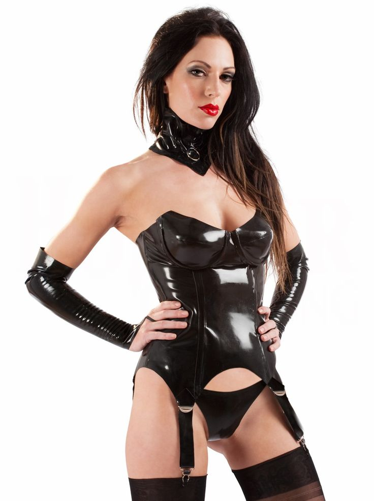 Leather and latex lingire