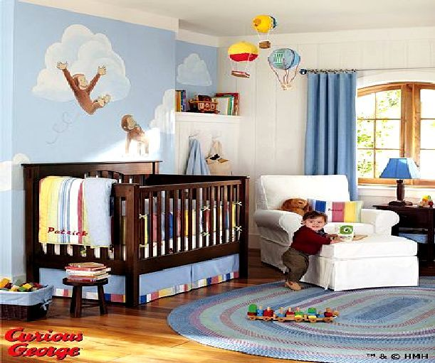 Curious George Bedding From Pottery Barn Makes Me 1 Either Wish I Had A Baby