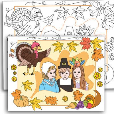 Nicole's party coloring pages: THANKSGIVING CUSTOM COLORING PAGE