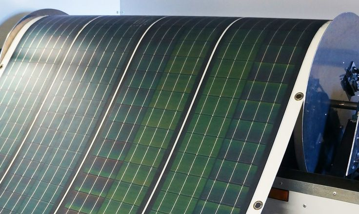 The Roll-Array is a flexible and easy-to-transport solar panel that rolls out like a carpet.