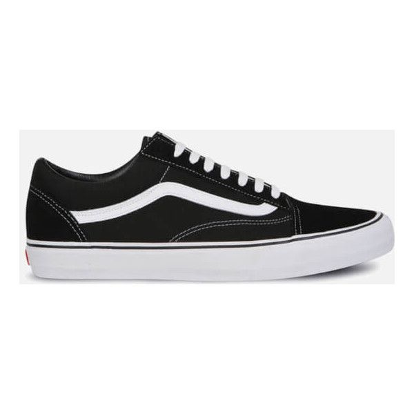 Vans Old Skool Trainers (4.240 RUB) via Polyvore featuring men's fashion, men's shoes, men's sneakers, black, mens black and white shoes, mens black sneakers, vans mens shoes, mens black leather sneakers и black white mens dress shoes