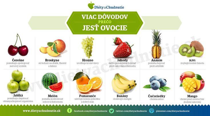 Viac dôvodov prečo jesť ovocie - Ako schudnúť pomocou diéty na chudnutie