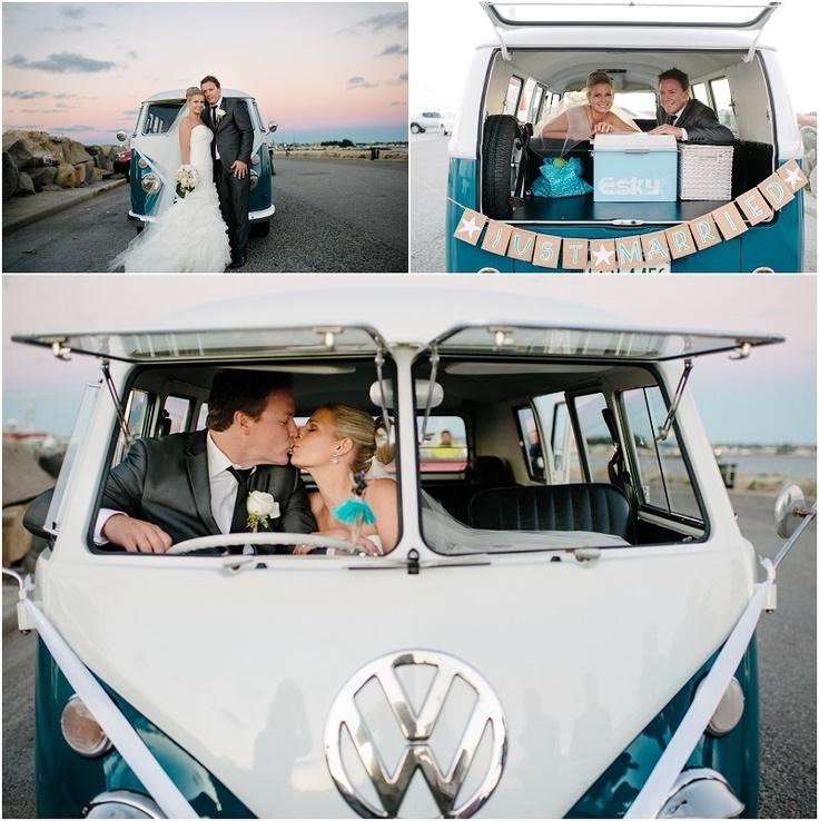 Beach and surf themed Perth wedding, with a VW kombi (Objektiv Perth Wedding Photography)