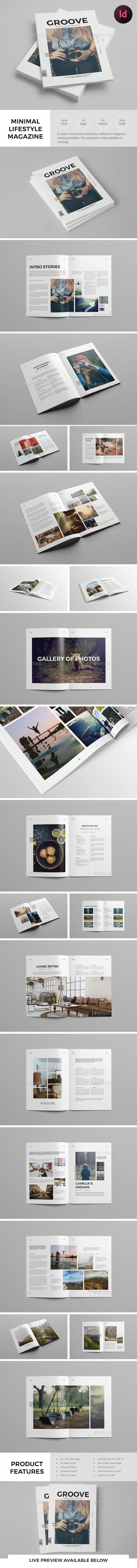 Simple Lifestyle Magazine template - Magazines Print Templates