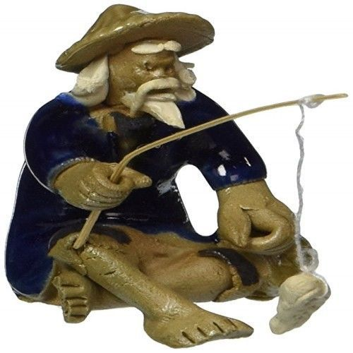 Bonsai-Ceramic-Figurine-Mudman-Fisherman-1-25x1-25x1-75-Decor-Grden-Home-New