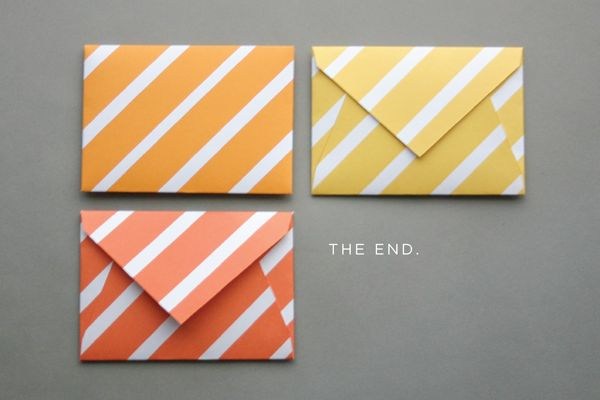 use a printable pattern & envelope shape to make adorable envelopes that will brighten up the mail