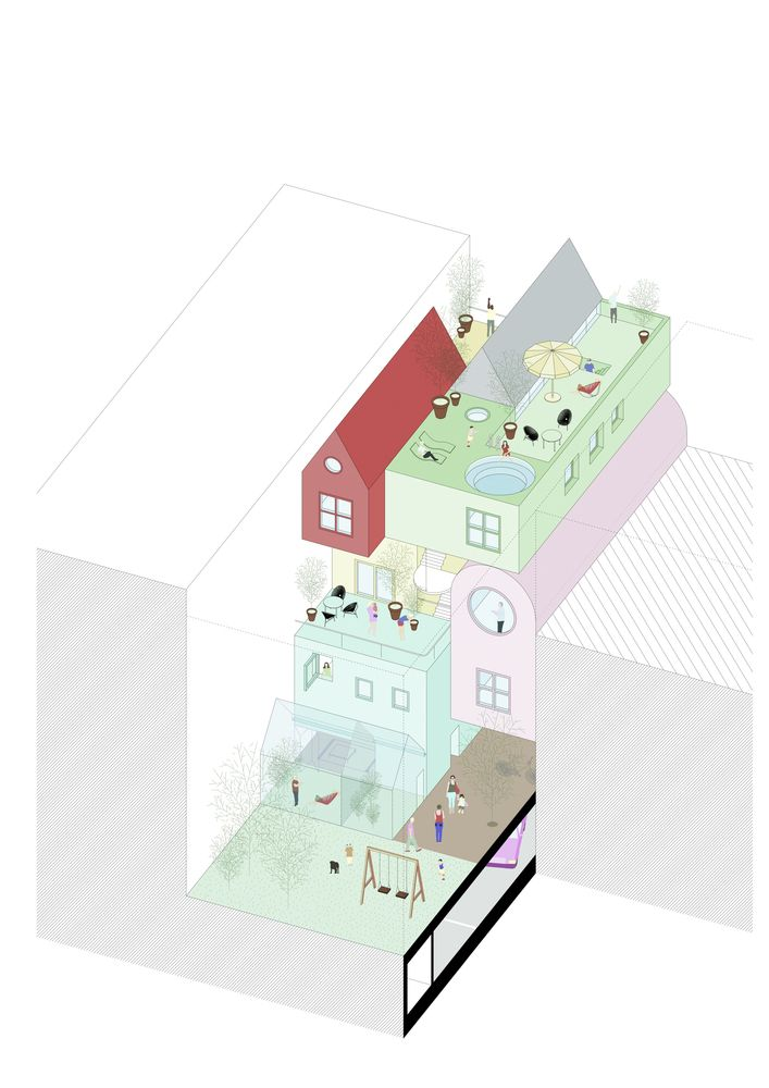 """Gallery of """"RRURBAN"""" Explores the Potential of Individualism in Collective Urban Housing - 9"""