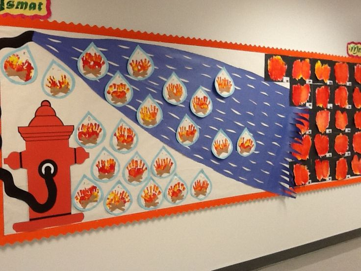 Fire Safety Bulletin Board Fire safety preschool crafts