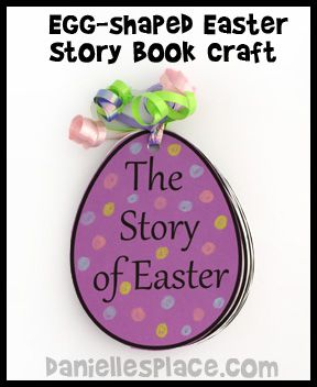 Easter Story Egg-shaped Book Bible Craft www.daniellesplace.com