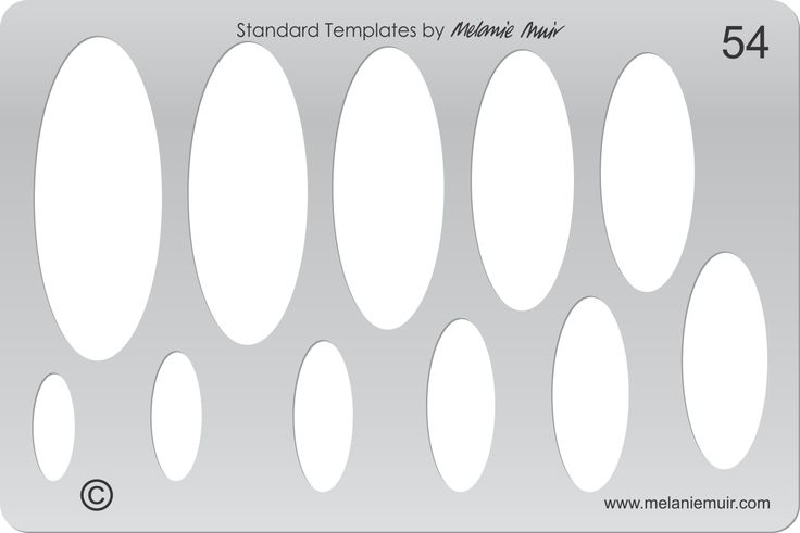 Acrylic template No. 54. Perfect for creating a wide variety of polymer, metal or clay bracelet, necklace, pendant and earring designs.