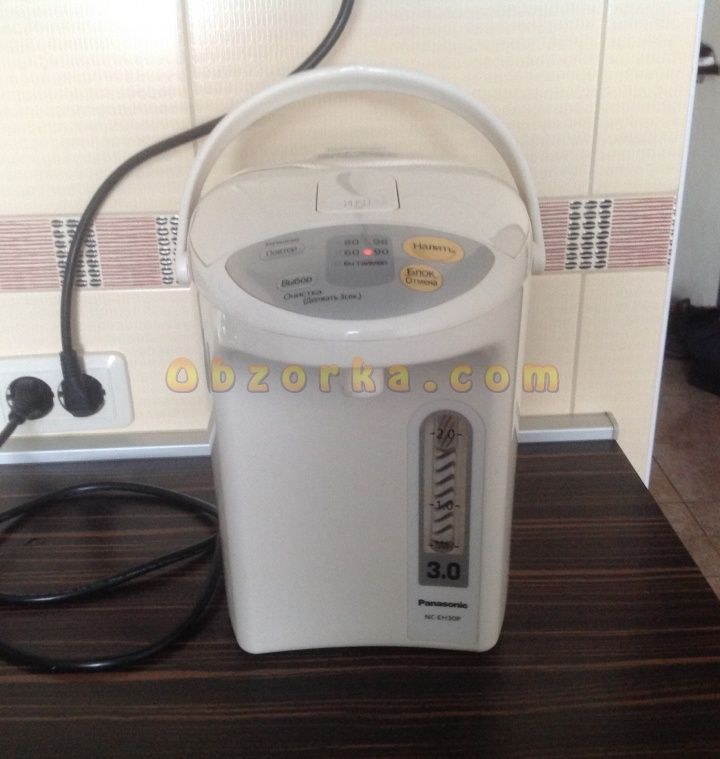 Термопот Panasonic NC-EH30P - отличное решение для семьи из 4 человек