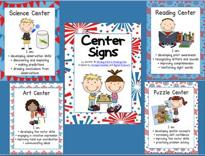 centers for pre kindergarten classrooms | alternate center i ve made several themed sets of my center signs that ...