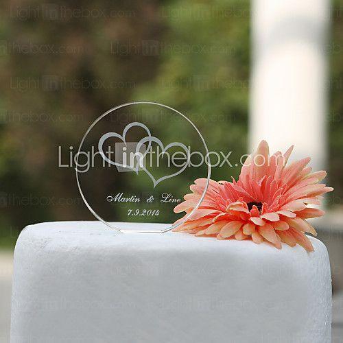 toppers torta personalizzata rotonda di cristallo (altri disegni) dia 8,5 cm - USD $ 8.99