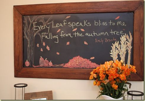 Thanksgiving Blackboard by Finding Home