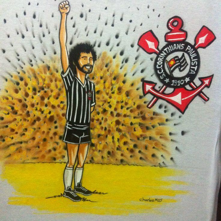 Sócrates Jogador Corinthians By Charles Mos