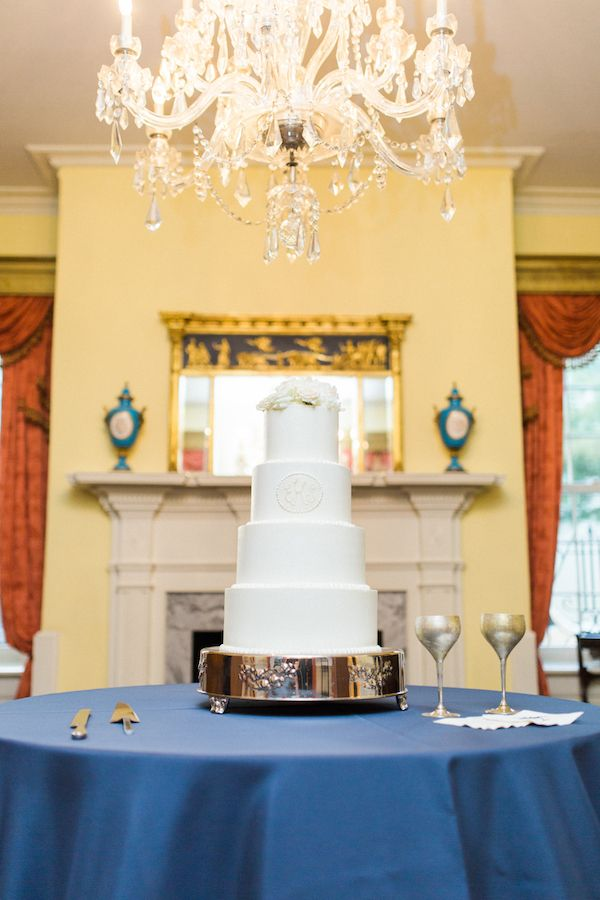 Ellis & Steven's beautiful wedding cake made by PPHG pastry chef Jessica Grossman | William Aiken House | Charleston, SC | Photo by Catherine Ann Photography