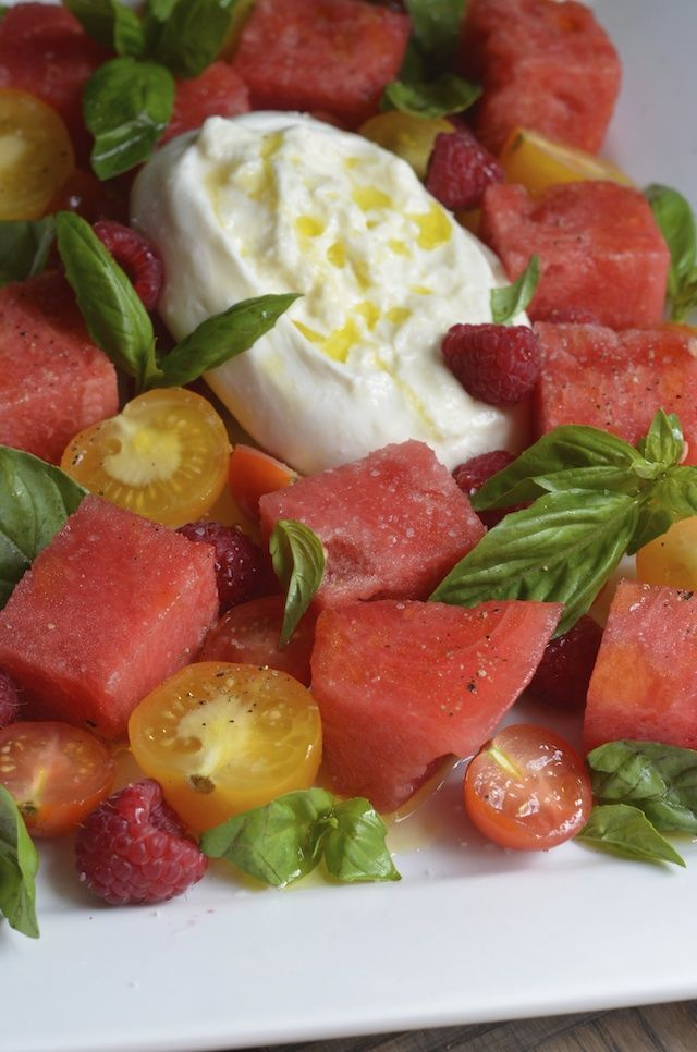 Enjoy All of Your Favorites at Once With This Watermelon-Tomato-Burrata Salad