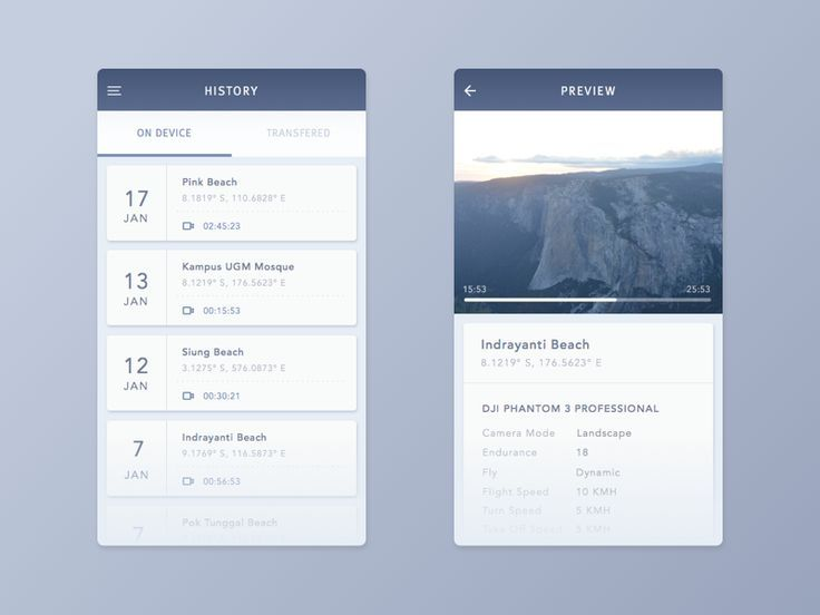 Dribbble - Drone App by Anggit Yuniar Pradito. If you like UX, design, or design thinking, check out theuxblog.com