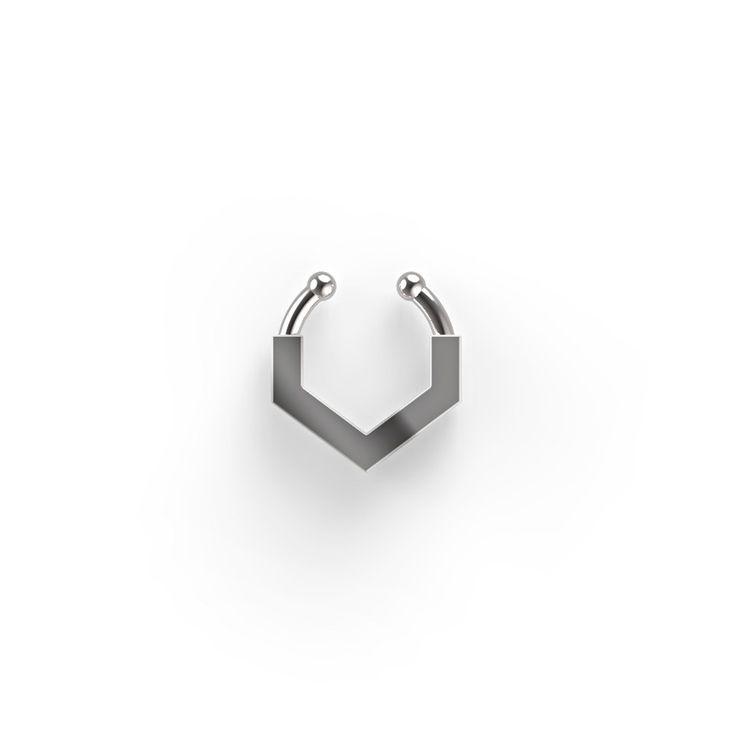 #septum para la nariz fabricado en plata de ley y con forma de V. Atrévete a…