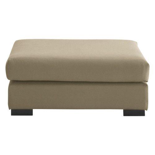Puf de sofá modulable de algodón color topo