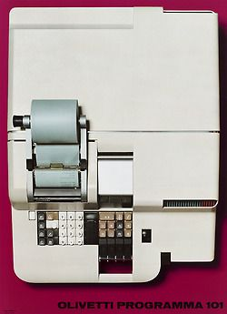 design-is-fine: Giovanni Pintori, advertising poster for the first programmable table calculator Programma 101, 1967. Ing. C. Olivetti &...