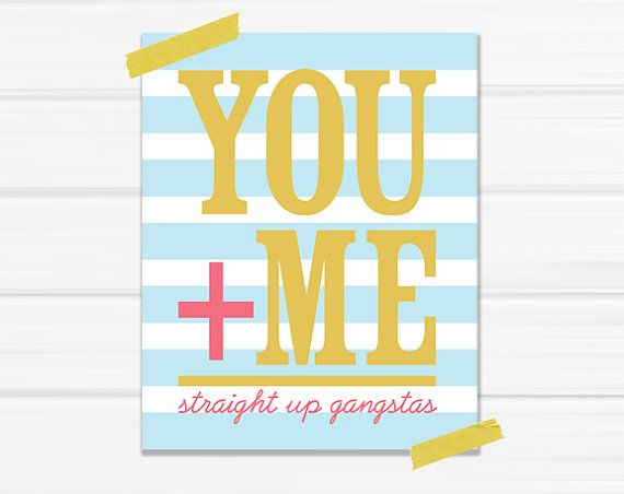 via YellowHeartArtArt Decor, Funny, Graphics Art Prints, Blue Stripes, Gangsta, Equality Straight, Graphic Art, Crafts, Bedrooms Remodeling
