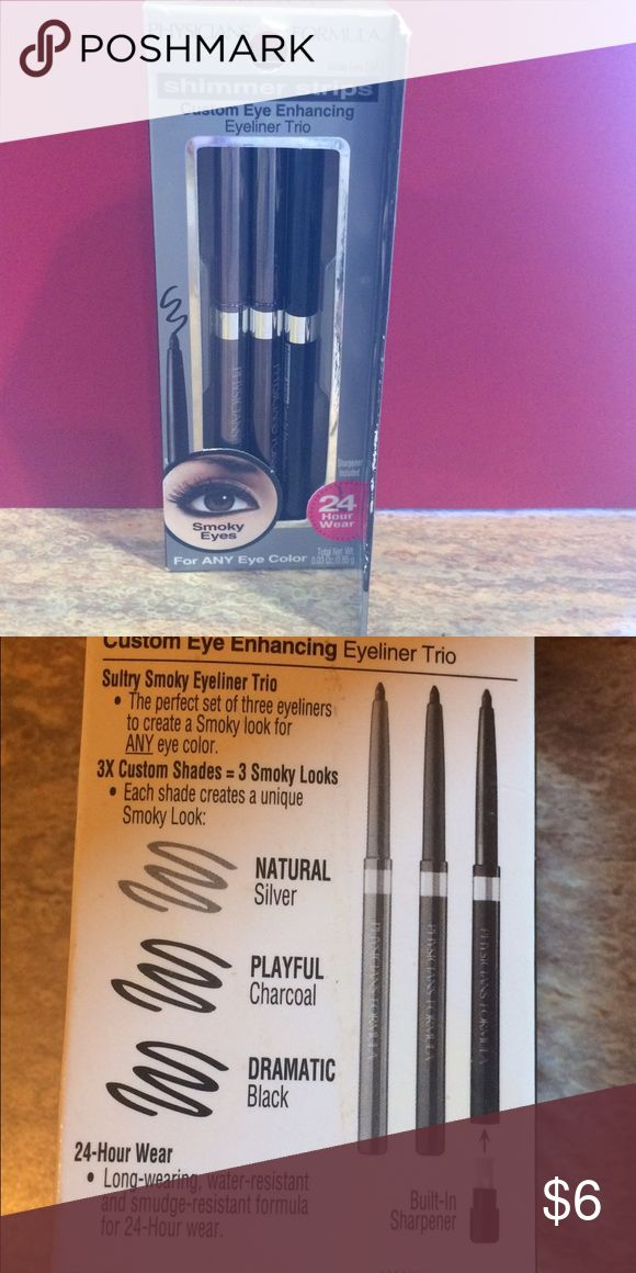 Physicians Formula Eyeliner for Smoky Eyes Brand new trio of shimmer eye liner to create the Smoky eye look. Silver, charcoal and black liner. Physicians Formula Makeup Eyeliner