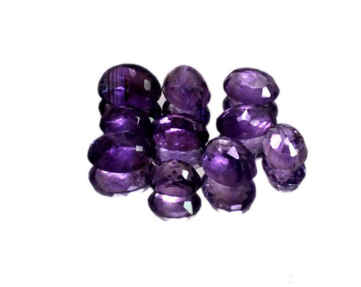 50ct / 10pcs Natural VS Purple Amethyst Quartz Loose Gemstone Wholesale Lot