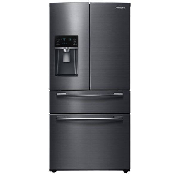 Shop Samsung 24.7-cu ft 4 French Door Refrigerator Single Ice Maker (Black Stainless Steel) ENERGY STAR at Lowe's Canada. Find our selection of refrigerators at the lowest price guaranteed with price match + 10% off.