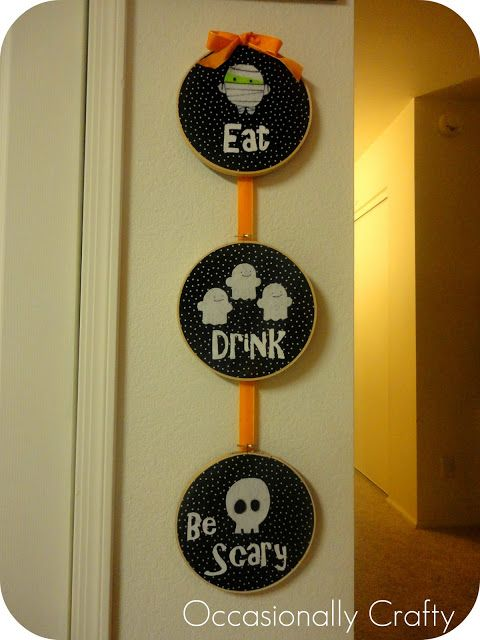 Halloween Embroidery Hoop Art | Occasionally Crafty: Halloween Embroidery Hoop…