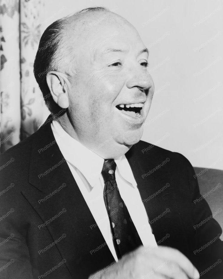 Alfred Hitchcock Quotes: Alfred Hitchcock Laughing Candid 1950s 8x10 Reprint Of Old