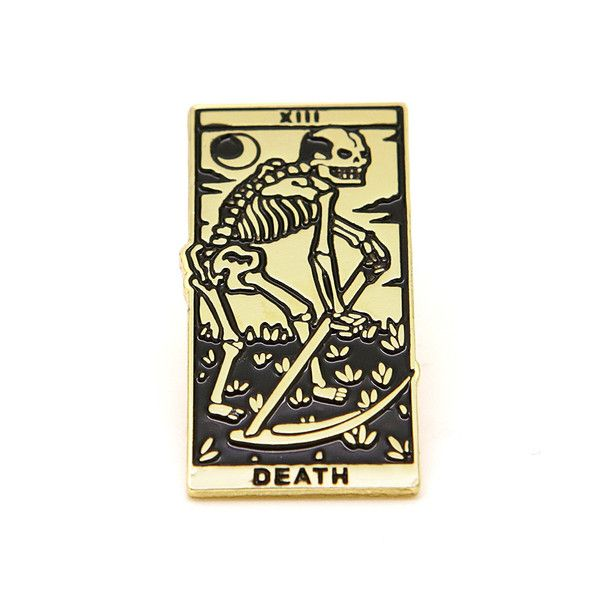 Death Tarot Enamel Pin