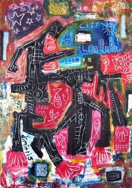 "Saatchi Art Artist dimitris p; Painting, ""Street fight"" #art"