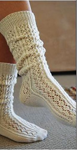 Ravelry: Light & Lacy Long Socks pattern by Wendy Knight
