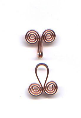 Free tutorial: egyptian spiral wire clasp from the WireWorkers Guild