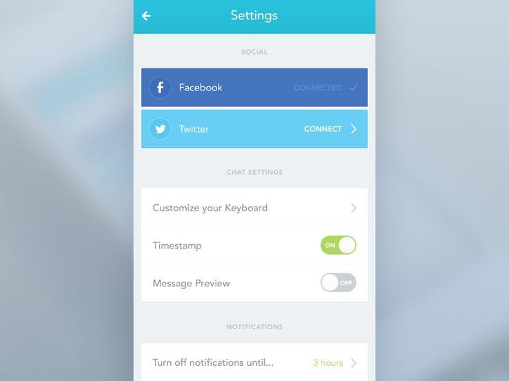 iOS App Settings screen by Daniela Alves