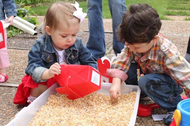 {Big Bird's Seed Search} Sensory activity at Sesame Street party