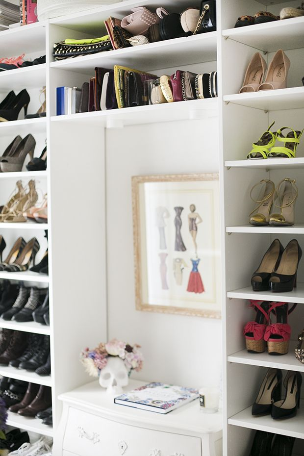 Organized shoes on shelves - closet inspiration