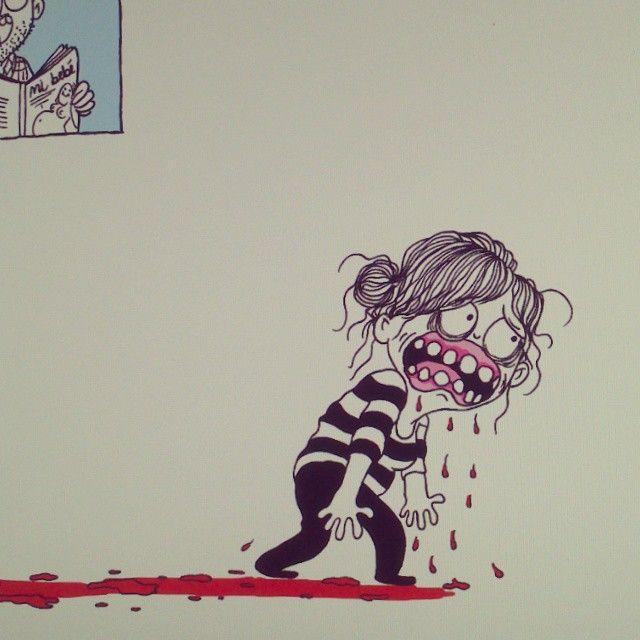 Un pequeño, pequeñísimo, sangrado de encías durante el embarazo. #libro #lavolatil 2015