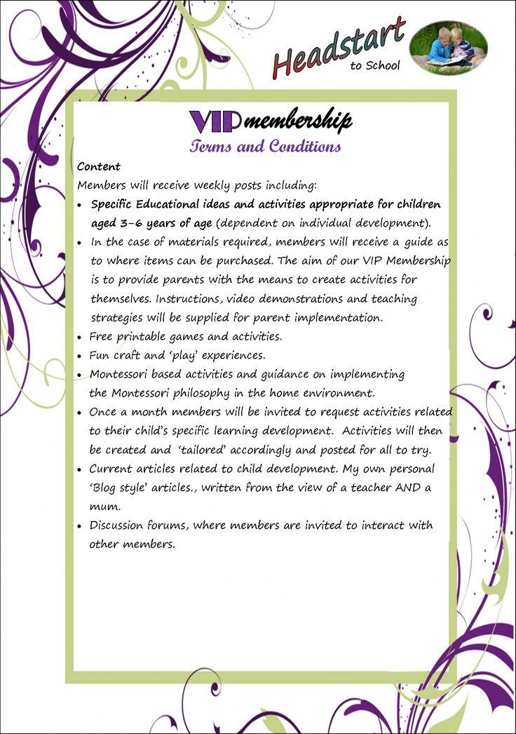 VIP Group Membership, educational games and activities, Montessori inspired activities, Literacy and Numeracy activities.