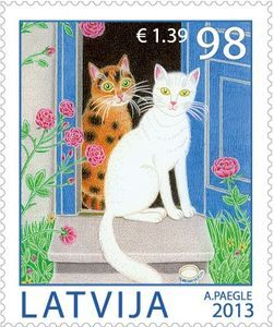 postage stamp from Latvia  2013