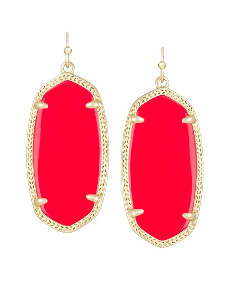 Red Ella earrings, perfect for the Texas Tech games. #Kendra Scott