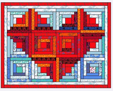 log cabin quilt patterns | … Heart Wall quilt – …