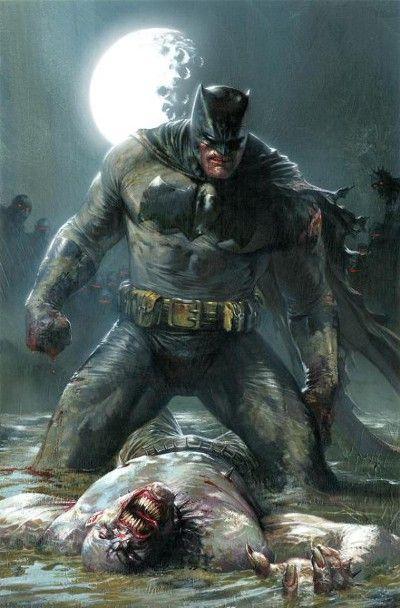 Batman depois da briga com lider da gangue em Batman: O Cavaleiro das Trevas