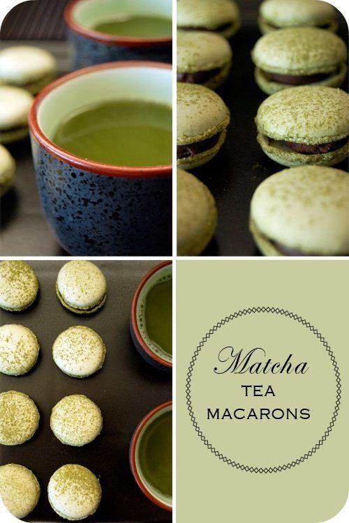 Matcha Macarons: Macarons Recipe, Sweet, Green Tea, Matching Tea, Food, Tea Flavour