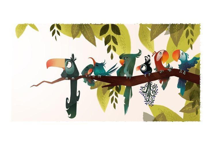 Bird Branch Print by britsketch on Etsy