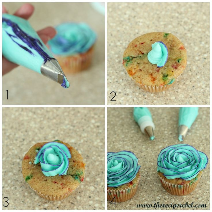 Two-Tone Buttercream Rose Tutorial by The Recipe Rebel
