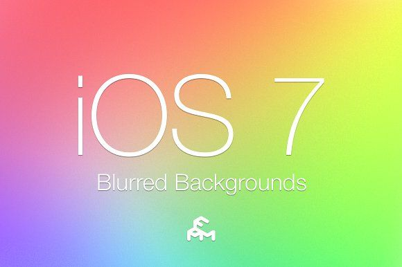 30 iOS 7 Blurred Backgrounds by MARTINI Type Designer on @creativemarket