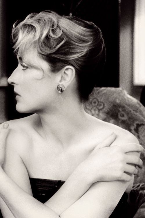 """Meryl Streep, I would only Guess that the photo is from the film, """"Plenty""""...it may be just a photo!"""